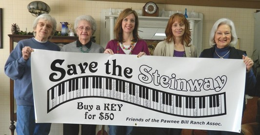 Save the Pawnee Bill Steinway banner